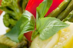 vegetable arrangement - stock photo