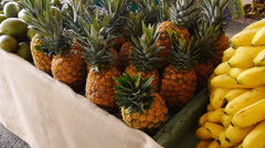 Pineapple-agriculture crop food vegetable fruit fair market 3 Stock Footage
