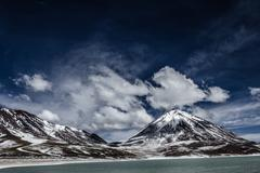 Desert and mountain on altiplano,bolivia Stock Photos
