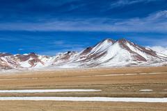 desert and mountain on altiplano,bolivia - stock photo