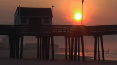 Ocean city nj sunrise 5 Stock Footage