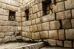 machu picchu, the ancient inca city in the andes, peru - stock photo
