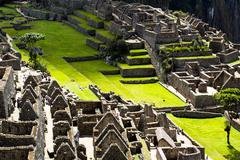 Machu picchu, the ancient inca city in the andes, peru Stock Photos