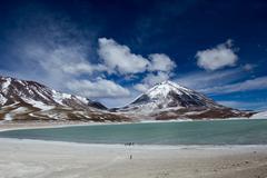 Stock Photo of desert and mountain on altiplano,bolivia