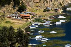 isla del sol on the titicaca lake, bolivia. - stock photo