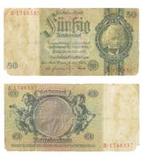 paper money of Imperial Germany - stock photo