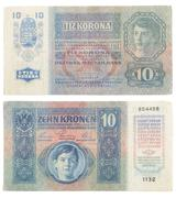 Paper money of the Austro-Hungarian Empire Stock Photos