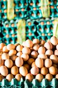 Stock Photo of eggs in a market in peru, south america.