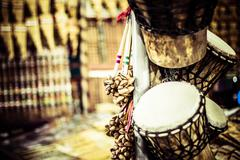 Musical instrument in local market in peru. Stock Photos