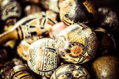 handmade peruvian maracas in local market - stock photo