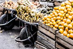 Colorful vegetables and fruits , marketplace peru. Stock Photos