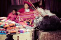 Stock Photo of traditional village in peru, south america.