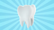 Stock Video Footage of Tooth on blue background