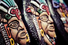 Stock Photo of souvenir masks from argentina, south america.
