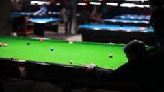 Snooker is my hobby - stock footage