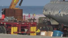 Ocean city nj beach repair 2 Stock Footage