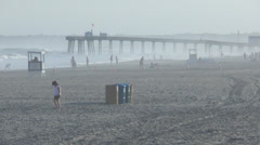 Ocean city nj beach pm 3 Stock Footage