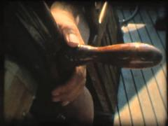 SUPER 8 old boat sailing in mediterranean sea 15 Stock Footage