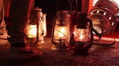 Old lantern Stock Footage