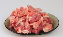 cook,  cut meat - stock photo