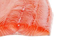big salmon fillet - stock photo