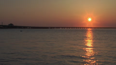 Ocean city nj 9th st bridge sunset 1 Stock Footage