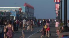 ocean city nj boardwalk pm 8 - stock footage