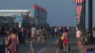 Ocean city nj boardwalk pm 8 Stock Footage