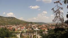Mountaint Panorama View 2 Stock Footage