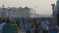 Ocean city nj boardwalk pm 12 Stock Footage