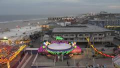 ocean city nj wonderland pier ferris wheel 2 - stock footage