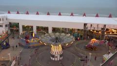 Ocean city nj wonderland pier ferris wheel 1 Stock Footage