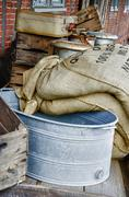 Stock Photo of Sieve and grain bags - HDR