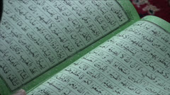 Reading the Koran in Mosque Leh 1 Stock Footage