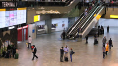 Brazil - Guarulhos Airport - Check In Area - São Paulo - 10 Stock Footage