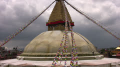 Boudhanath Stupa Kathmandù Stock Footage