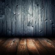 vintage old house interior, wood texture background - stock illustration