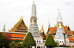 Grand palace, the major tourism attraction in bangkok, thailand. Stock Photos