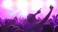 Silhouette of People partying during a festival Stock Footage