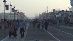 Ocean city nj boardwalk pm 11 Stock Footage