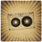 vintage music abstract background - stock illustration