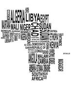 Africa map Stock Illustration