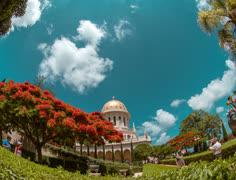 Time lapse Bahai Garden Stock Footage