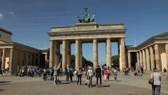 Brandenburg gate, Berlin Stock Footage