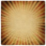 Square shaped sunburst ornated paper sheet. isolated on white. Stock Photos