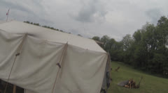 Civil War Era Scenes #5  (Tent and Victorian Accoutrements) Stock Footage
