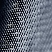 metal texture. blue toned background. - stock photo