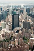 Aerial View of Midtown Manhattan and Madison Square Garden, New York, USA - stock photo