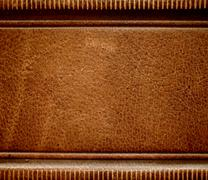 Stock Photo of antique leather book spine cover.