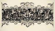 Stock Illustration of arabesque, renaissance . engraving of 16 century. copyright expired.